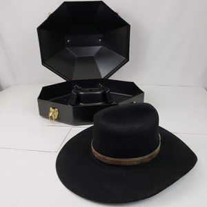 New West Bailey Vintage Felt Black Cowboy Hat